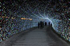 Japans Tunnel of Lights 9 #tunnel #light #japan #installation