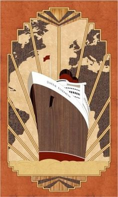 art deco insp #panel #wood #ship #art #deco #streamline
