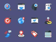 Free Flat SEO Icon Set