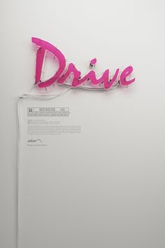 Drive Neon Poster by Rizon Parein #movie #typography #drive #poster #neon