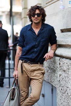All Things Stylish #shirt #blue #pants