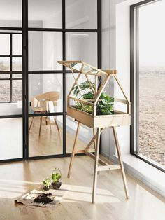 Atelier 2+, a creative studio based in Bangkok, has designed a miniature indoor greenhouse for gardeners of all kinds, simply called Greenho
