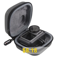 Sunnylife #Sport #Camera #Protective #Carrying #Case #Mini #Portable #Storage #Bag #for #DJI #Osmo #Action #- #ASH #GRAY