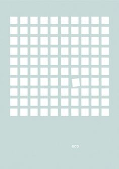 OCD  this isn't happiness.™ #design #graphic #never #ocd