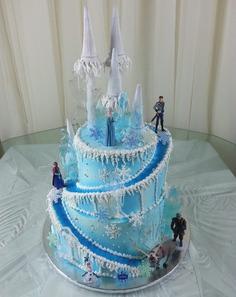 Frozen Fairytale winter wedding Cake