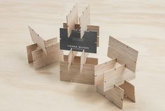 Vienna Woods by Anagrama #business #cards #print #wood