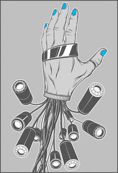 Dexterity on the Behance Network #vector #dexterity #derek #illustration #blue #gangi #hand #cable