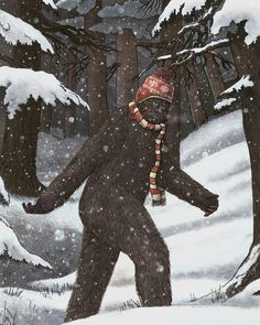 terryfan #bear #illustration #snow