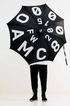 OAMC 2015 Fall/Winter Lookbook #fw #umbrella #2015 #oamc #typography