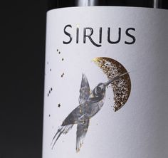 Tumblr #hummingbird #packaging #print #label #wine #class #gold