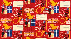 Itella by Sanna Mander — Agent Pekka #illustration #pattern