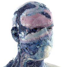 XGen Portraits on Behance #colours #iceman #distort #face #3d