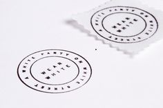 RoAndCordials | RoAndCo Studio #white #invitation #stamp #roandco