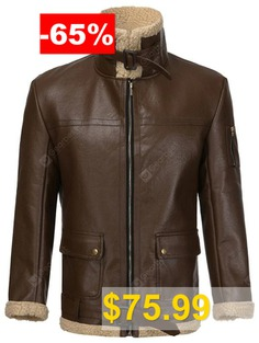 Men's #Winter #PU #Leather #Jacket #Long-sleeved #Classic #Retro #Fashion #Personality #- #DEEP #BROWN