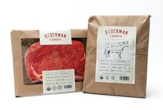 Stockman & Dakota Beef Rebrand on Behance #packaging #meat