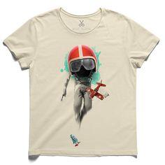 #salindaw #beige #tee #tshirt #aziznesin #childhood #dream #astronaut #plain #helmet #toy