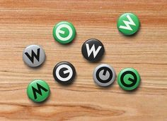 Współdzielnia on the Behance Network #button #community #pin #badges #green