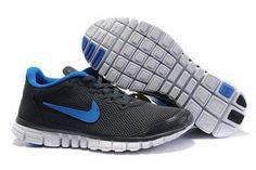 Nike Free 3.0 V2 Running Shoe Dark Grey Royal Womens