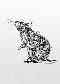 Resonate | Animal Series_01 on the Behance Network #ink #drawing #pen #mouse