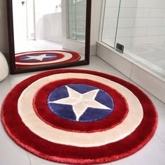 Captain America Rug #tech #flow #gadget #gift #ideas #cool