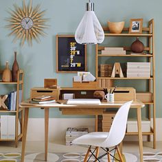 Mid century modern home office
