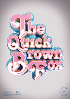 December by Peter Tarka, via Behance #pink #the #3d #typography