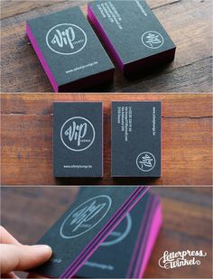 Black letterpress Business card by Letterpress Winkel