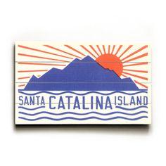 Santa Catalina Island with Big Sun #sun #catalina #santa #wood #island #o #cool
