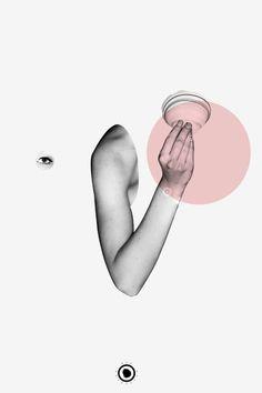 Ida Carpe #white #pink #gaverd #black #poster #500seashells