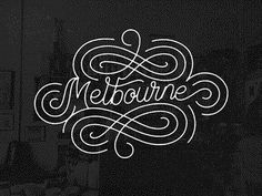 Melbourne shot #type #lettering #gif #typography