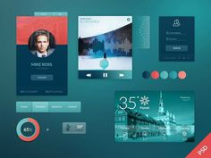 Clean And Cool Web Ui Kit Psd Psd Files GFXNERDS #psd #ui