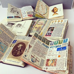 Stamps, Scientific Charts, and Hand-Drawn Maps Occupy Every Inch of Travel Notebooks by José Naranja | Colossal