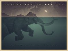 DKNG Studios » Posters #blue #water #poster #elephant
