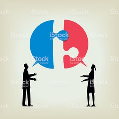 Dialogue - Royalty-free Discussion stock vector
