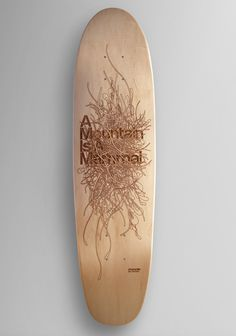 Laser Engraved Skateboard #engraved #laser #engraving #sf #skateboard #character