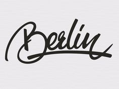 Berlin by Angelo Walczak https://dribbble.com/AngeloWalczak #lettering #calligraphy #type #typography #design #vector #brush #pen #hand #il