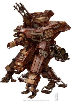 Robots: Hausen #ww2 #fantasy #robot #american #wwwkeiththompsonartcom #sci-fi
