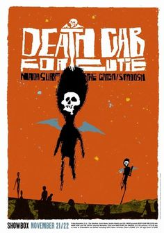 Death Cab for Cutie Seattle Concert Poster by Patent Pending