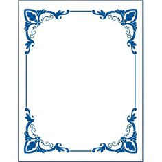 Blue Flower borders for word document 5