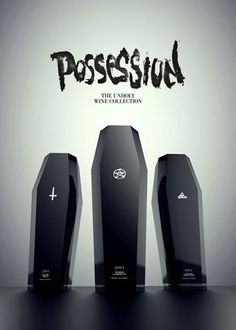 Possession - The Unholy Wine Collection - The Dieline: The World's #1 Package Design Website -