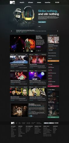 MTV.com Redesign by Oğuz Atılan, via Behance #web