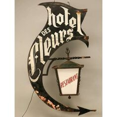 Typeverything.com - Old french sign. - Typeverything #hotel #restaurant #sign