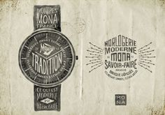 Montres MONA Typography by BMD Design #lettering #hand #typography