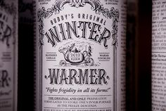 winter warmer #packaging #design #vintage #type #typography
