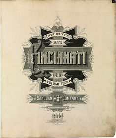 BibliOdyssey: Sanborn Fire Insurance Map Typography #heading #vintage #typography