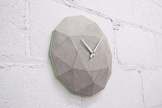 Cairo Star Cut concrete wall clock.