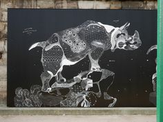 Impermanent Animal Murals Drawn with Chalk and Oil Pastel by Philippe BaudelocqueApril 16 #chalk #art
