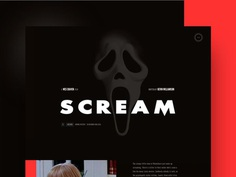 Scream mocktober branding website webdesign typography re-design layout app mobile homepage design ui