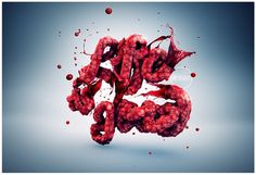 Life is good x H on the Behance Network #blood #vein #real #object #type #mbdsgn #good #life #typography