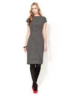 Escada Darouny Wool Dress #dress #escada #grey